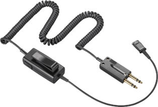 Plantronics SHS 1926-25 In-Line Adapter, 6-wire, w/o PTT (25ft Cable)